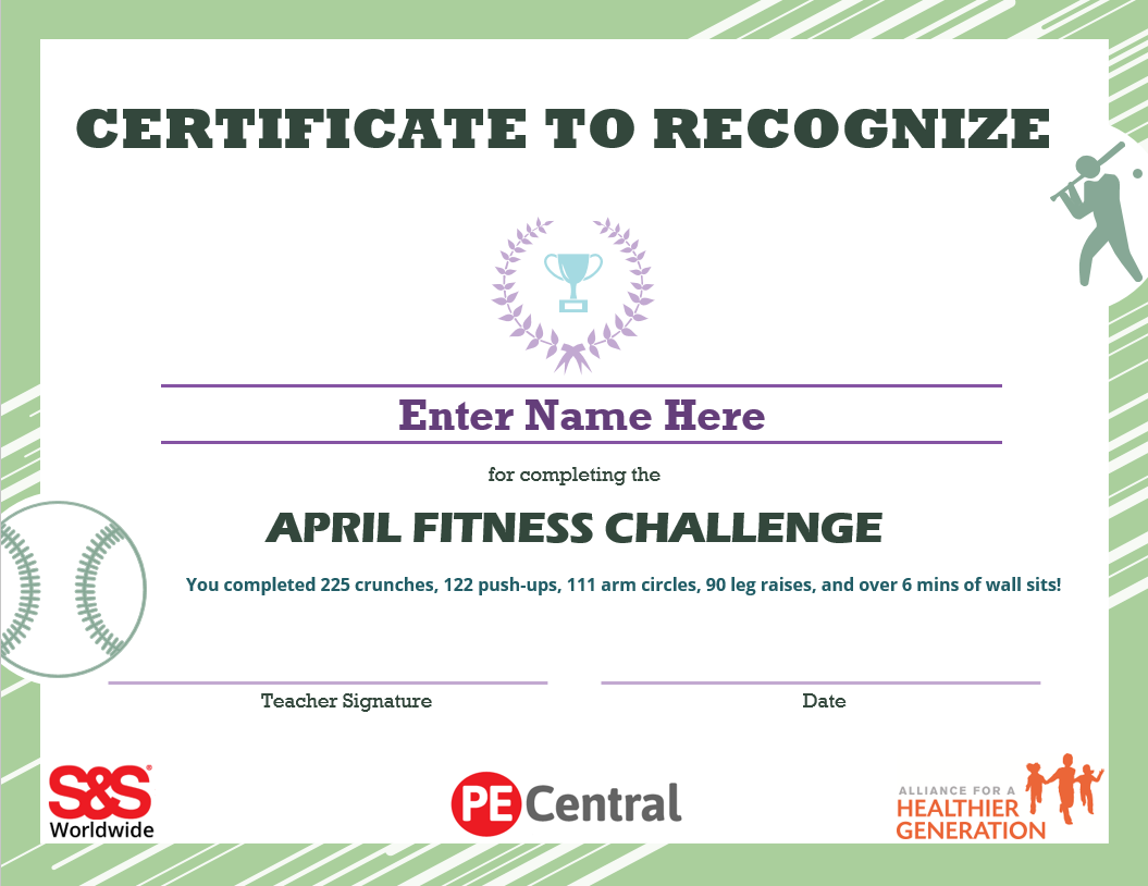 April Printable Fitness Challenge Calendar – S&s Blog For April Fitness Challenge Calendar
