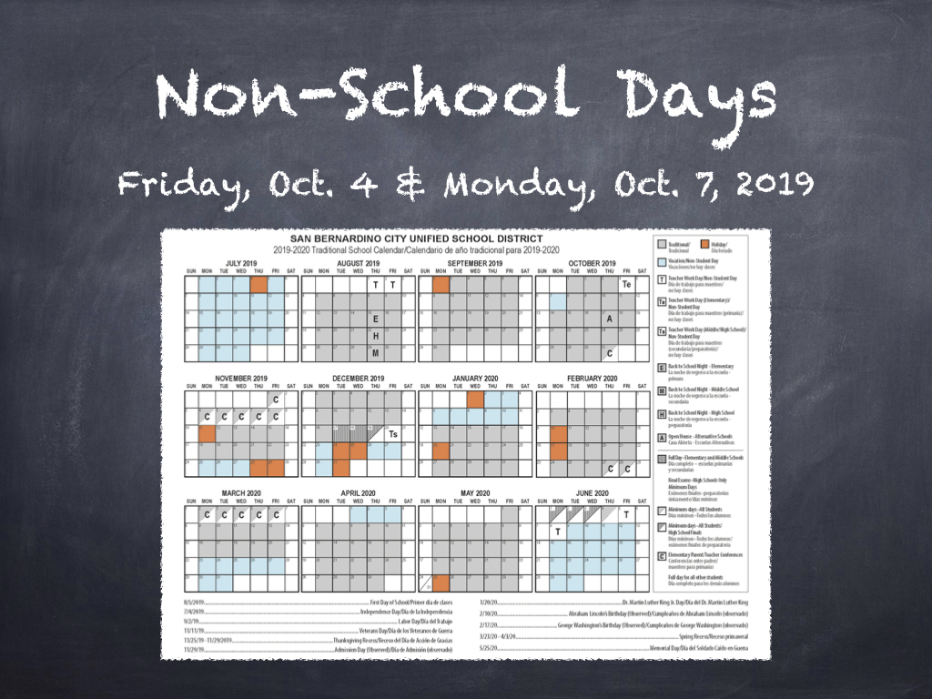 Archived News – San Bernardino City Unified School District Throughout El Cajon School District Calendar
