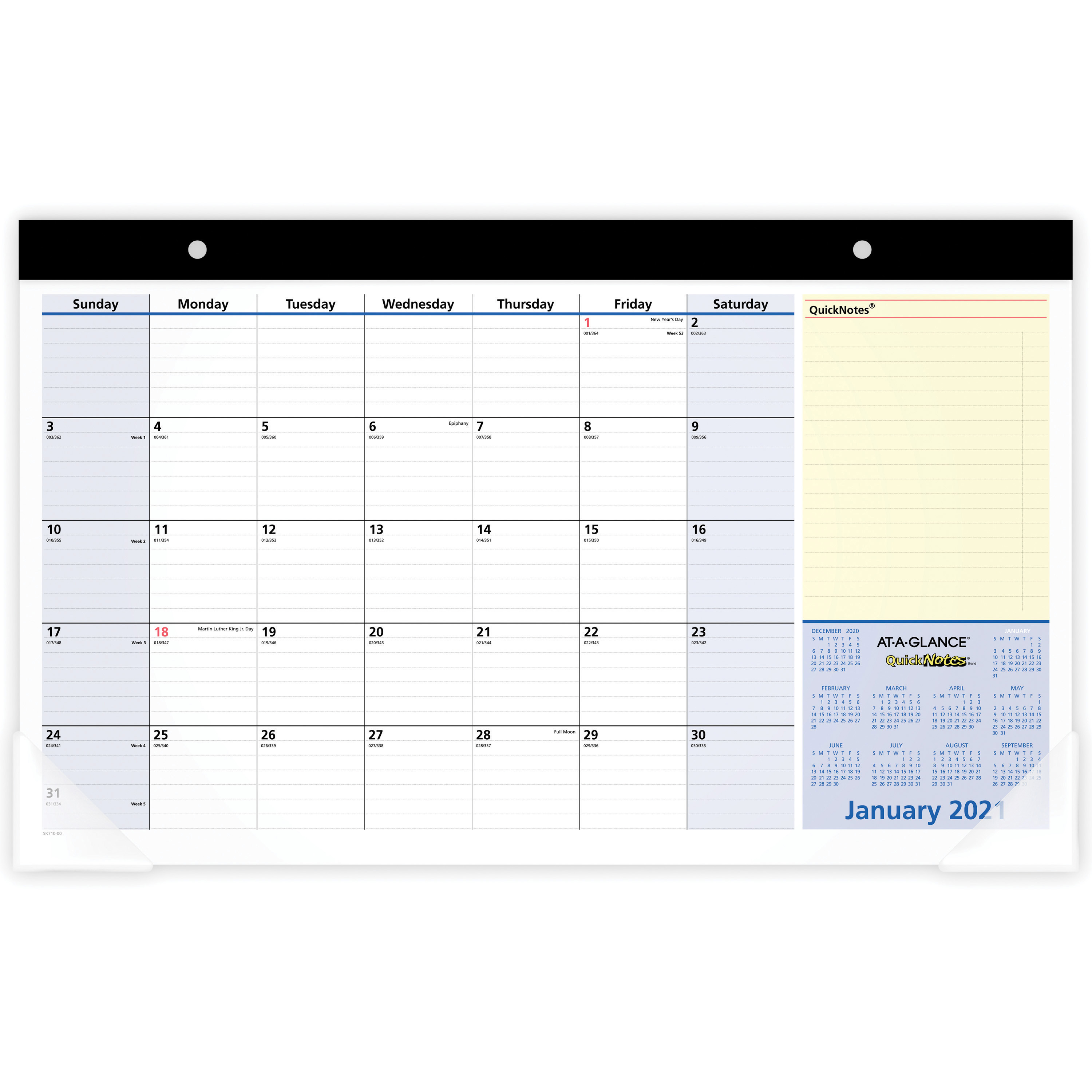 "At A Glance Quicknotes Monthly Desk Pad – Yes – Monthly – 1.1 Year –  January 2020 Till January 2021 – 1 Month Single Page Layout – 17 3/4"" X 10  7/8"" Within Houston County Ga Calendar 2021 2021"