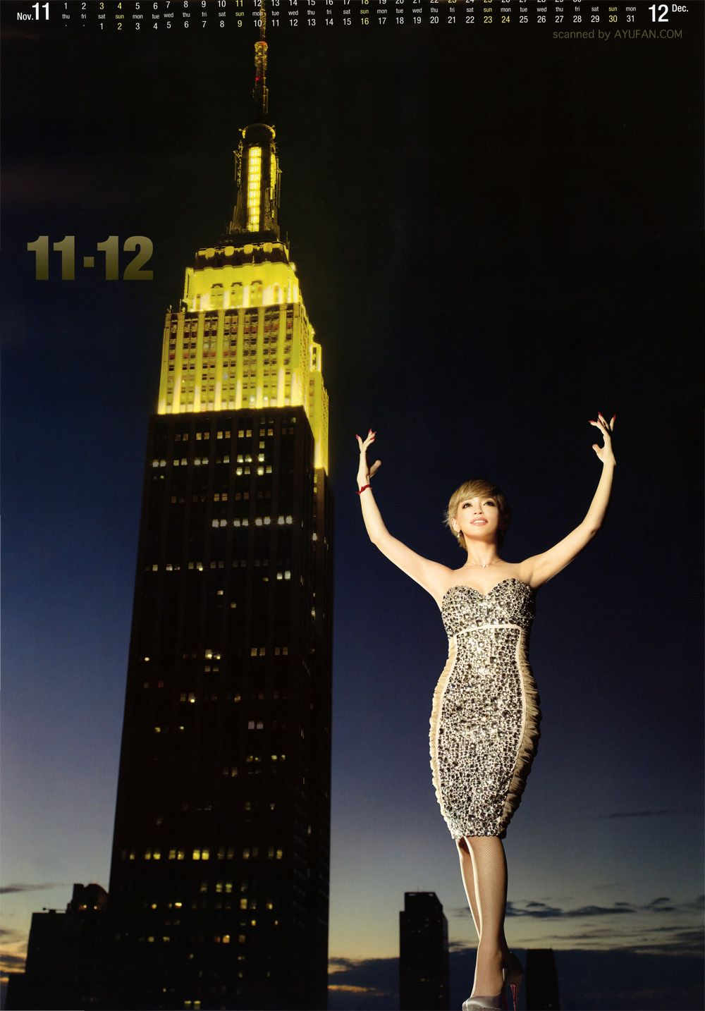Ayumi Hamasaki's 2012 Calendar | 浜崎あゆみ, 浜崎 Pertaining To Calendar Empire State Building