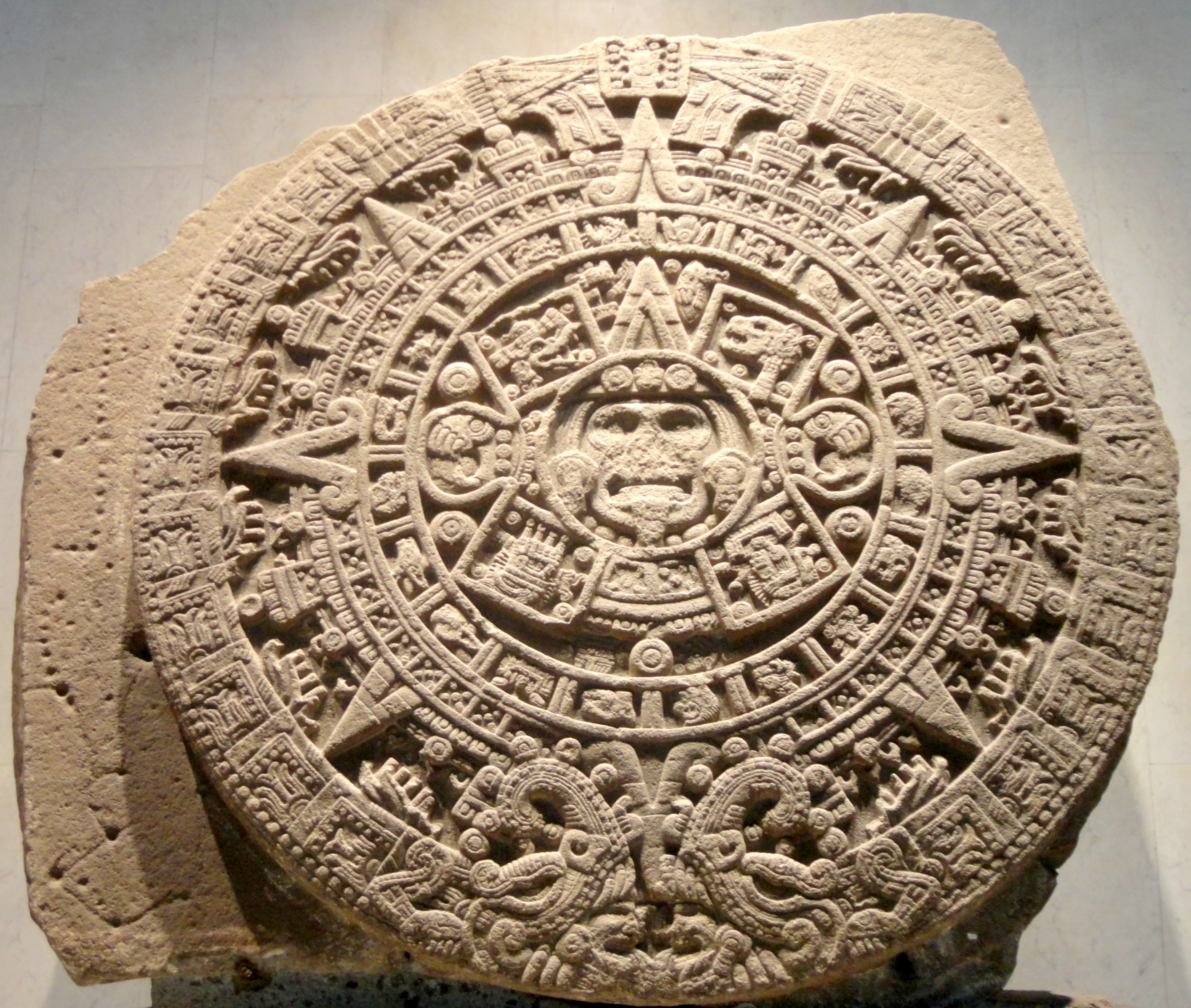 Aztec Sun Stone – Wikipedia Intended For How To Read Aztec Calendar