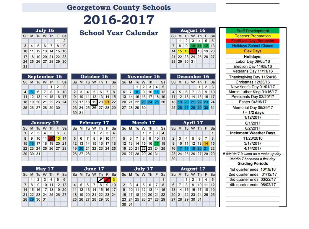 Back 2 School: Georgetown County School District In Berkeley County Sc School District Calendar
