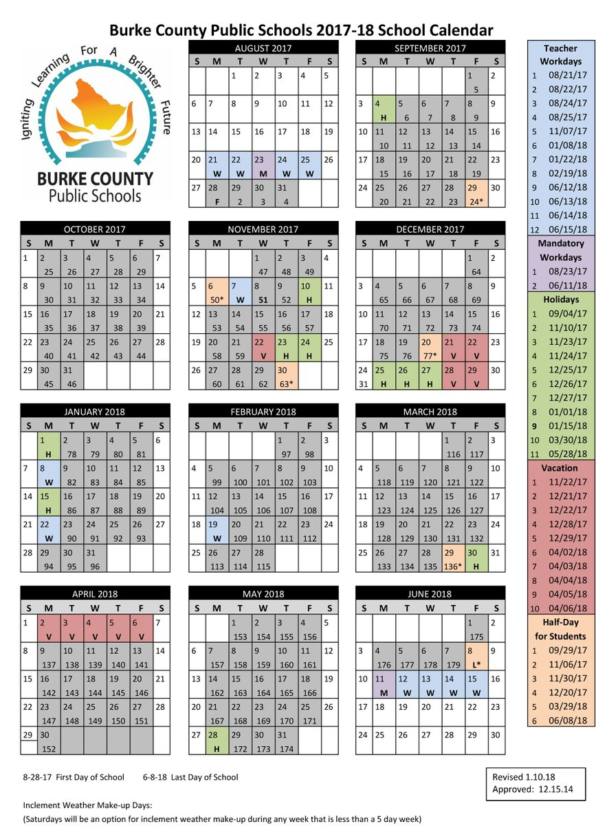 "Bcps On Twitter: ""we've Revised Our School Calendar. Monday with Burke County Public Schools Nc Calendar"