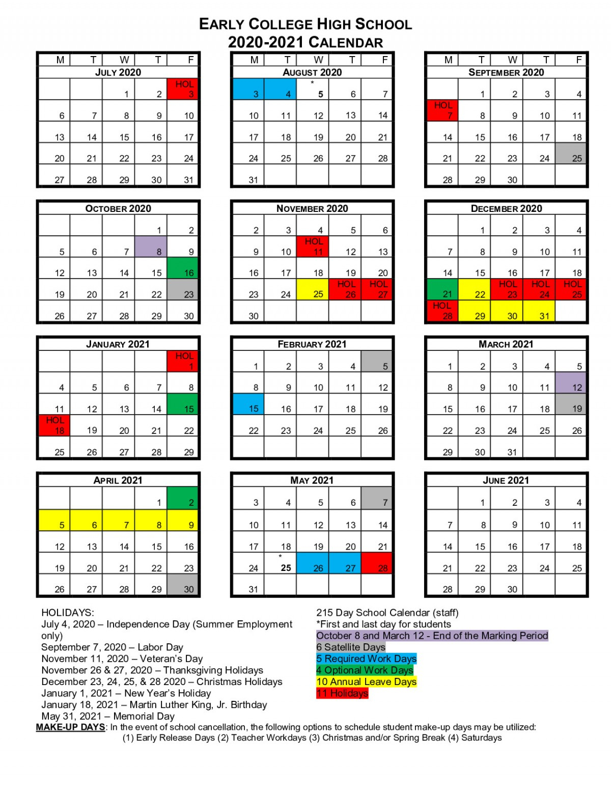 Bcs School Calendars | Beaufort County Schools Throughout William And Mary 2021 20 Calendar