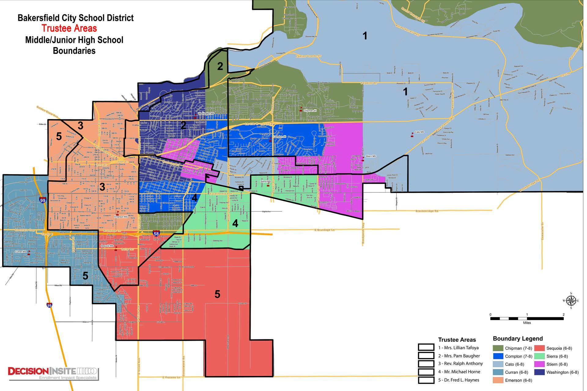 Bcsd Trustee Area Maps – Board – Bakersfield City School Inside Bakersfield City School District Calender