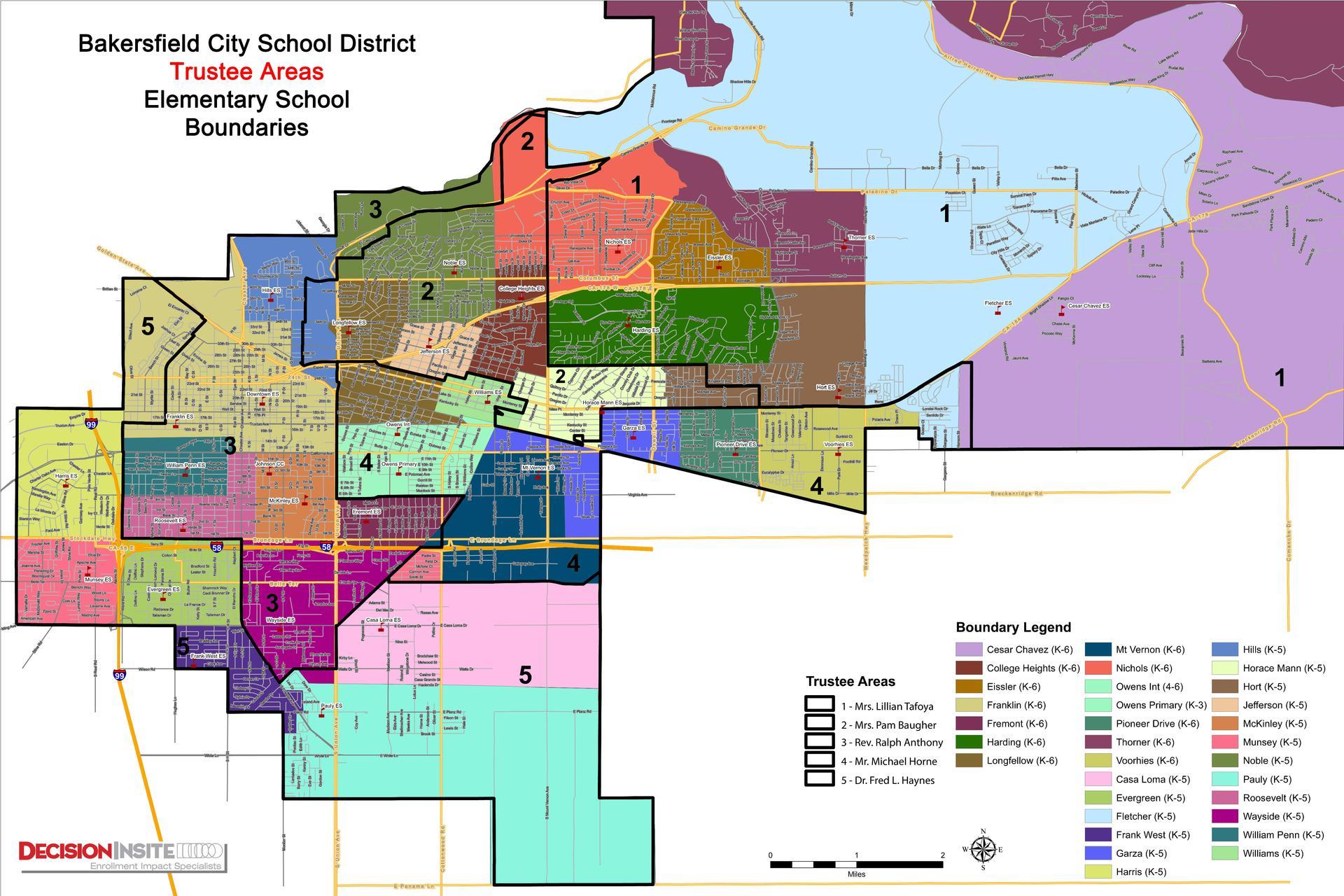 Bcsd Trustee Area Maps – Board – Bakersfield City School With Regard To Bakersfield City School District Calender