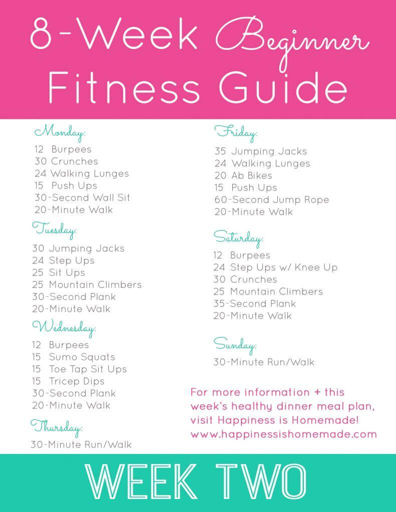 Beginner Fitness Jumpstart: Week 2 (With Images) | Workout With Regard To 24 Day Jumpstart Pdf Workout
