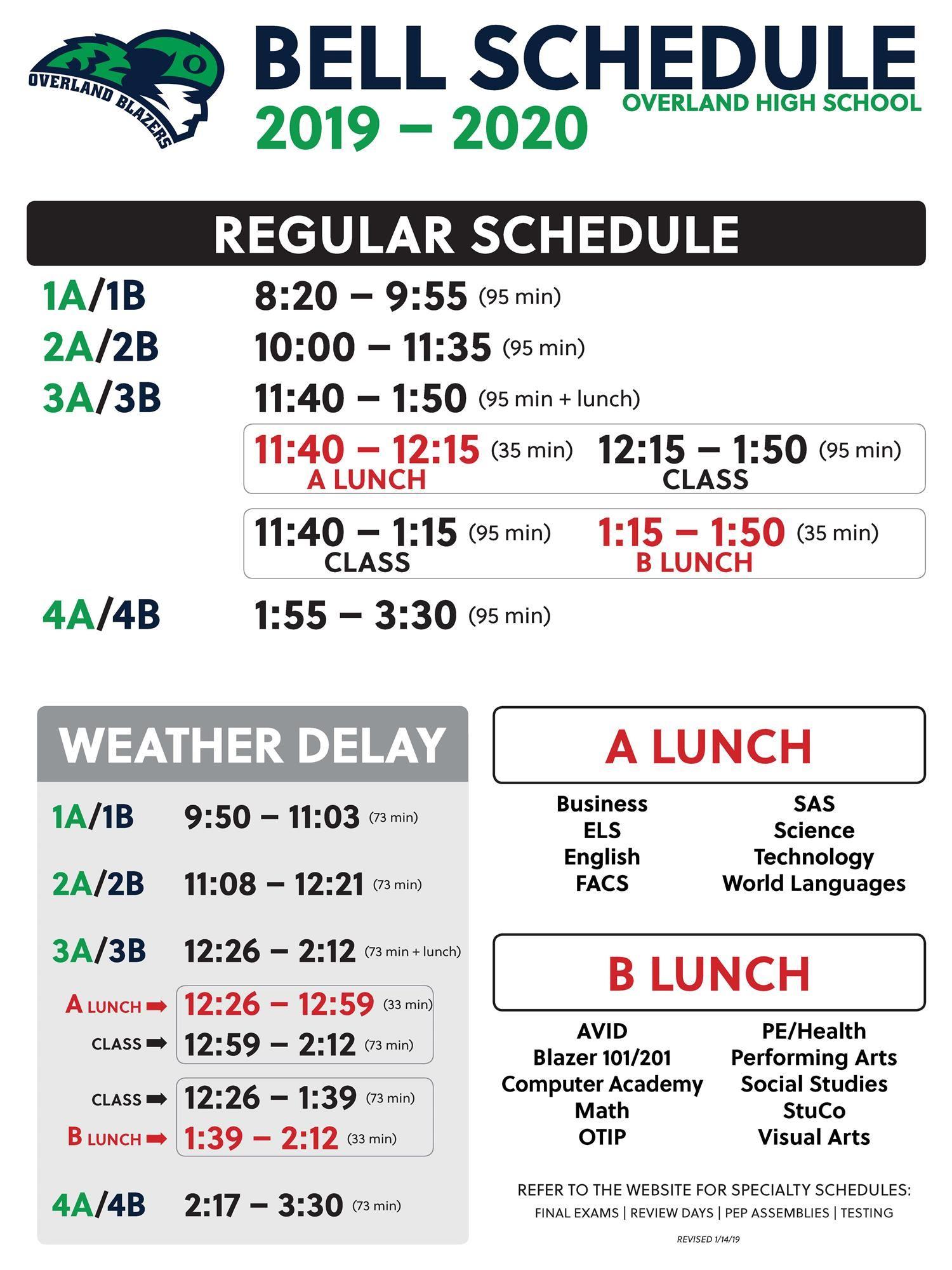 Bell Schedule And A/b Calendar / Bell Schedule Throughout Cherry Hill Public Schools Calendar