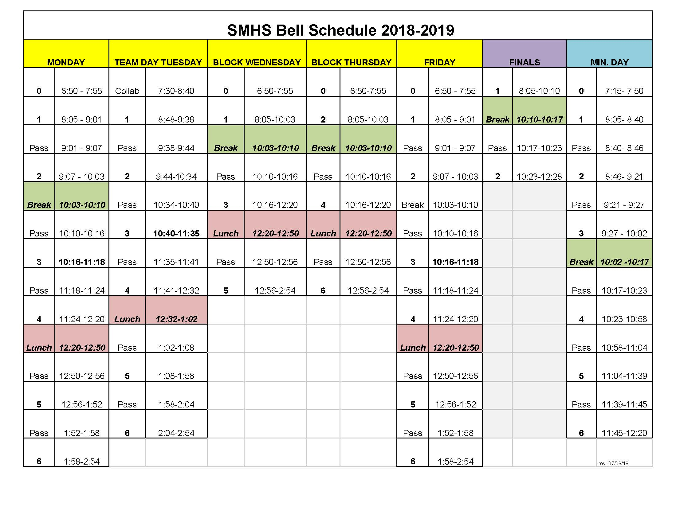 Bell Schedule – San Marcos High School With Regard To Paloma High School Menifee Year School Calendar