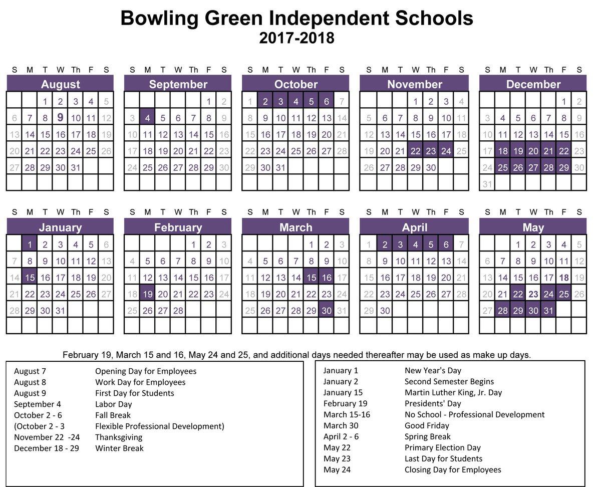 "Bg City Schools على تويتر: ""the Board Of Education Has Pertaining To Bowling Green City Schools Calendar"