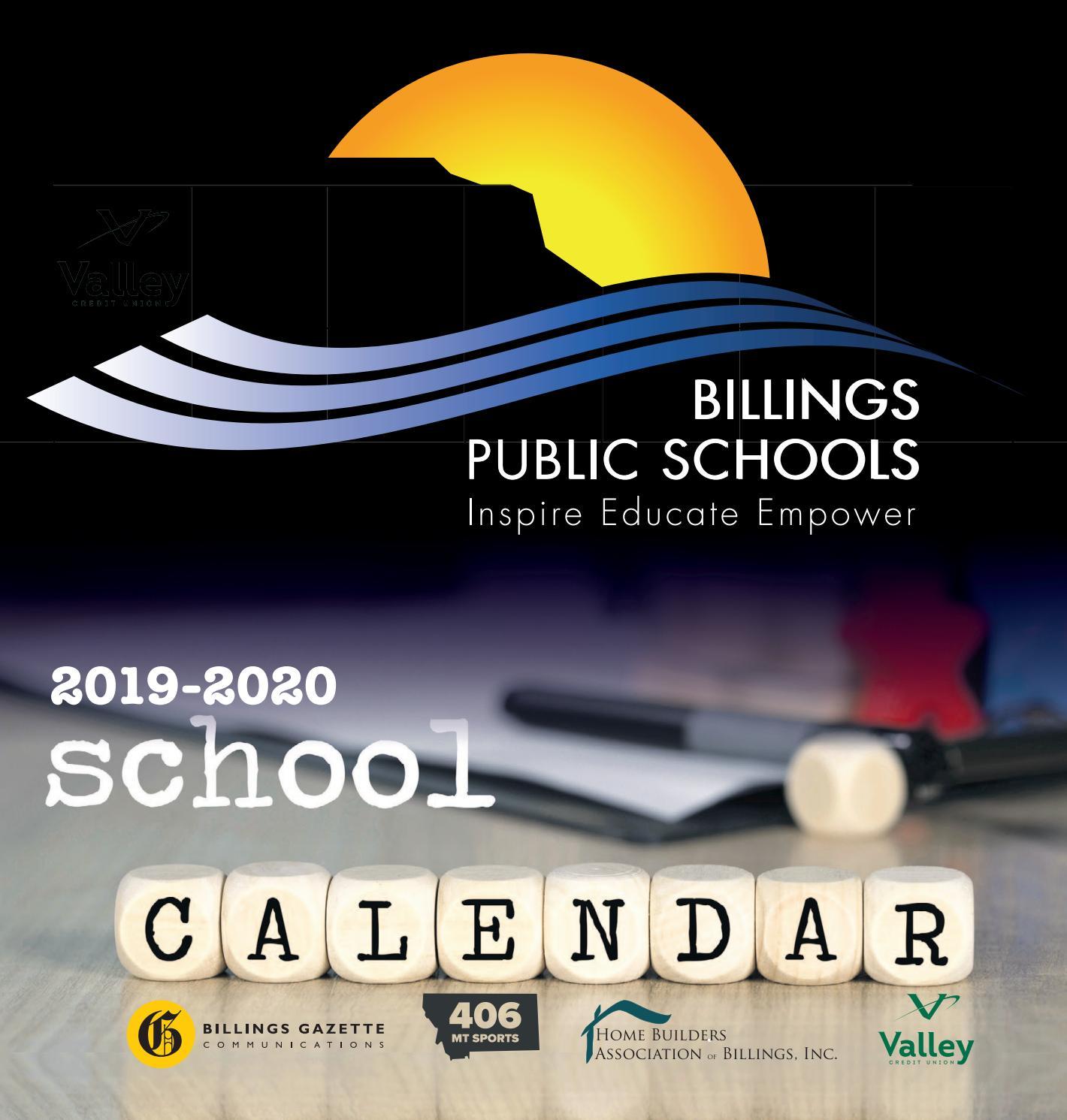 Billings Public Schools 2019 Calendarbillings Gazette For Ool District 2 Calander For Billings Montnana