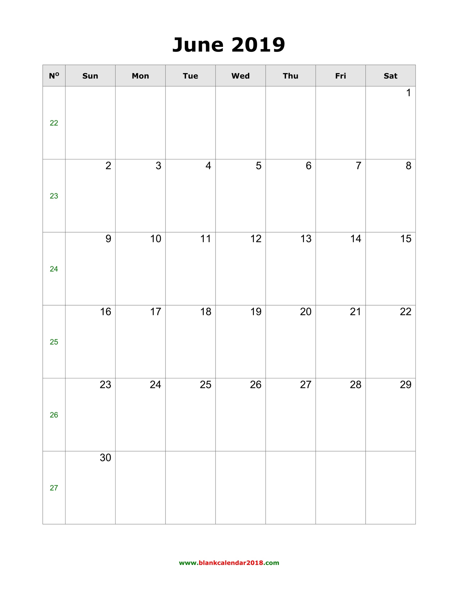 Blank Calendar For June 2019 Inside Where To Find Google Printable Amendable Calander