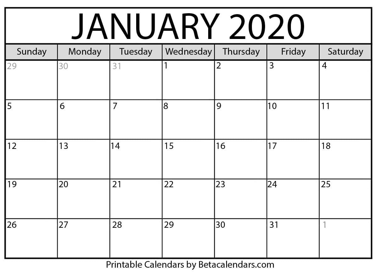 Blank January 2021 Calendar Printable Pertaining To Georgia State University 2021 Calendar