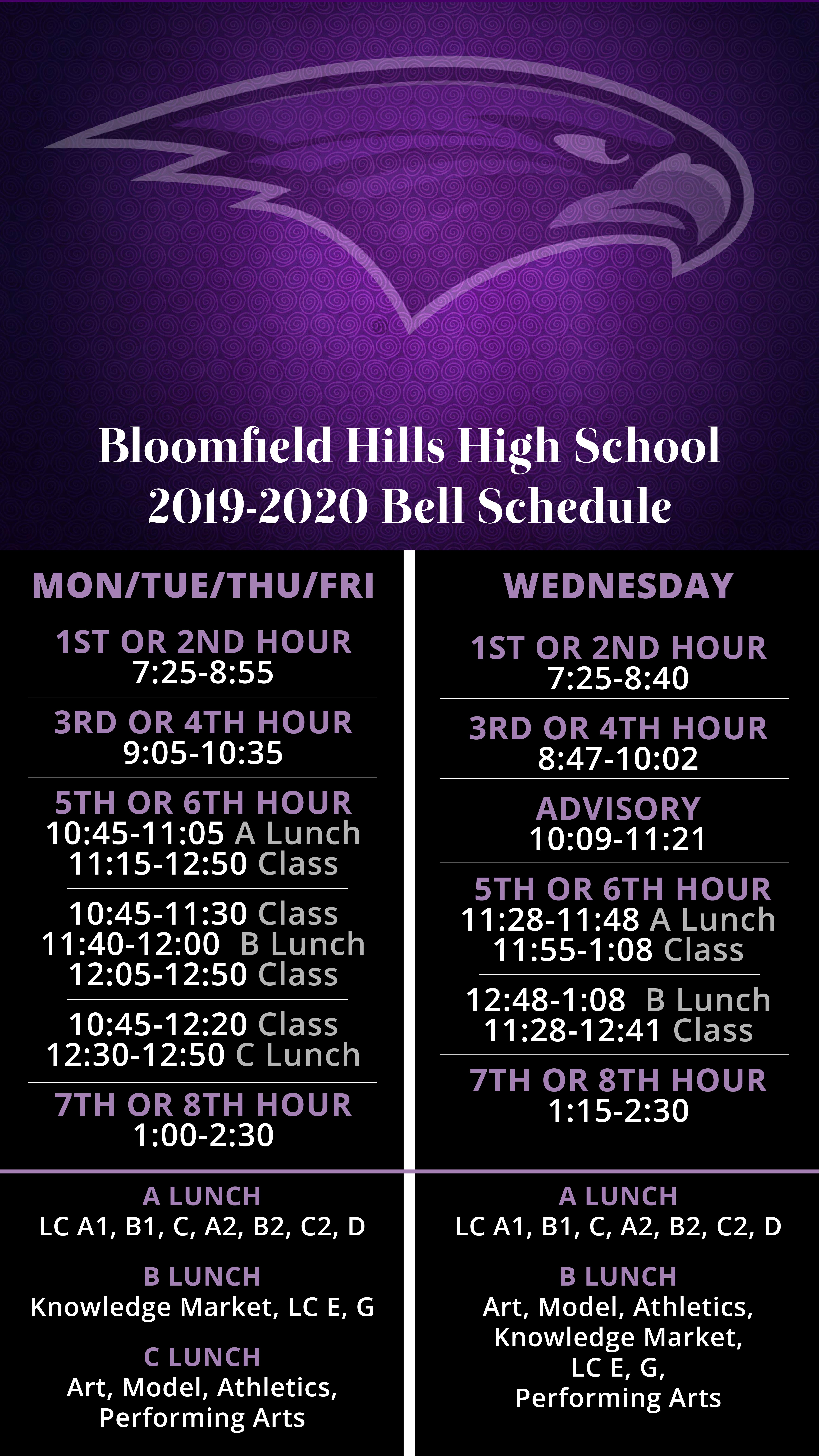 Bloomfield Hills High School | Public High School In Michigan In West Bloomfield High School Calendar 2021