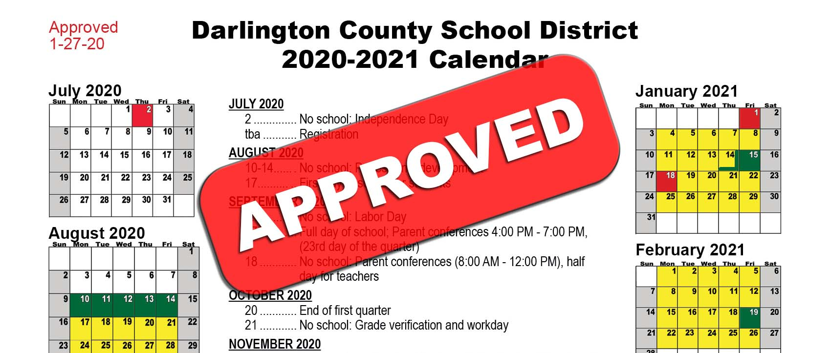 Board Of Education Approves 2020 2021 District Calendar In Johnson And Wales 2021 2020 Calendar