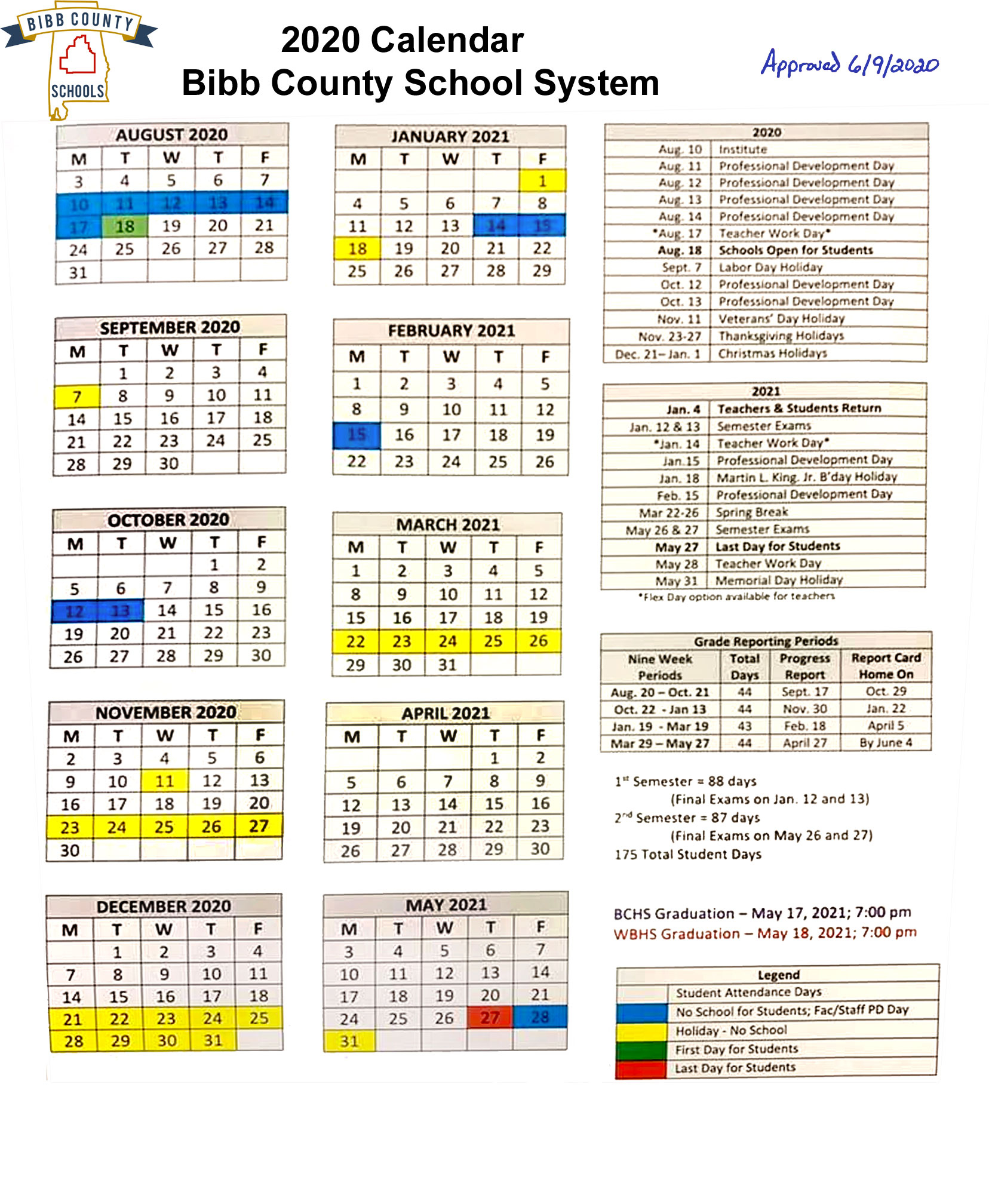 Board Of Education Approves Amended Calendar | The Bibb Voice Regarding Board Of Education Calendar
