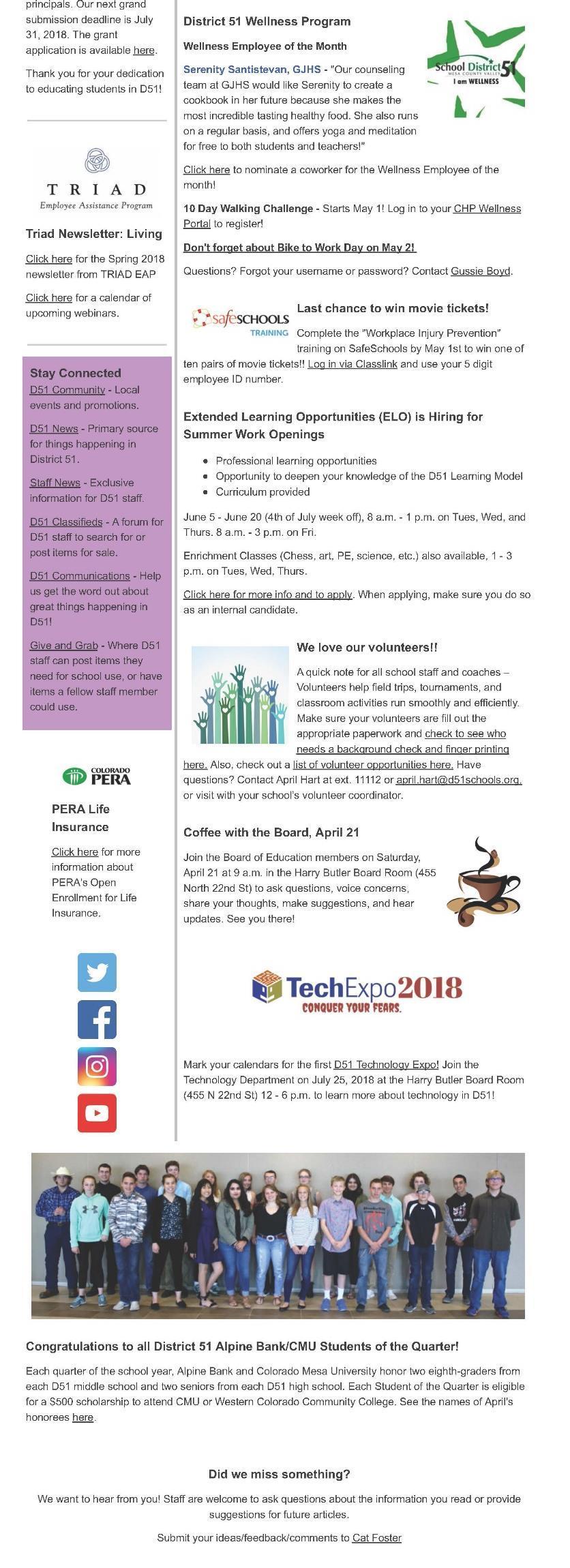 Board Of Education Mesa County Valley School District 51 For Mesa County School District 51/spring Break