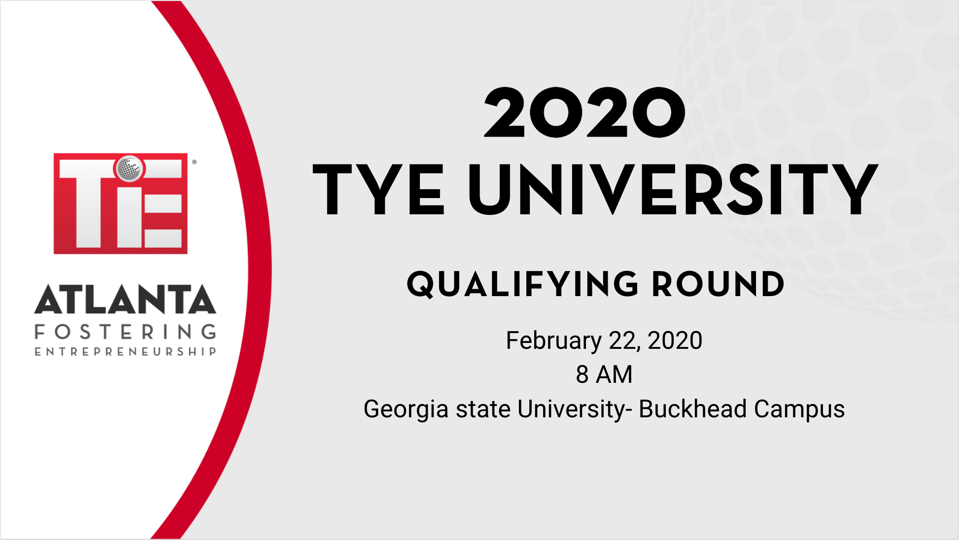 Book Tye University Qualifying Round 2020 Tickets, Atlanta | Tie Pertaining To Georgia State University Holiday Schedule 2020