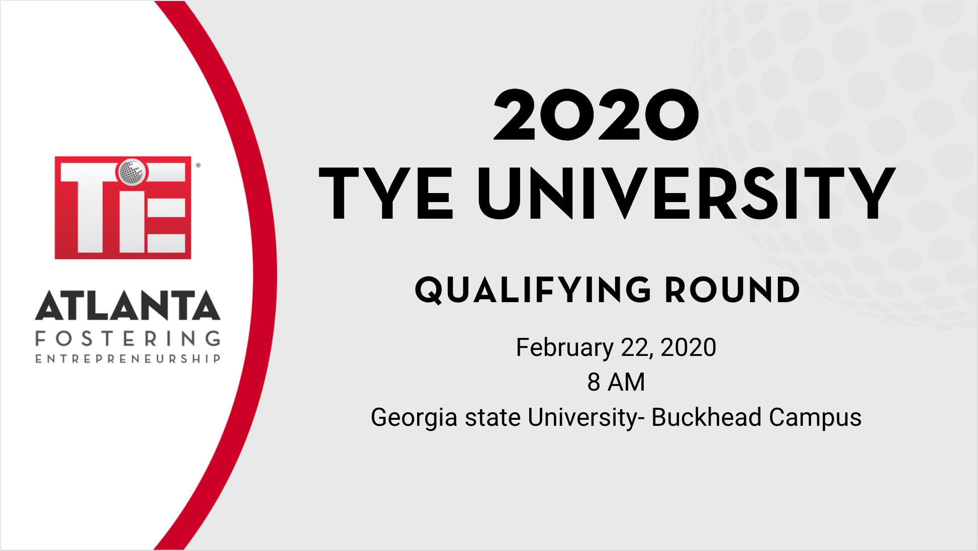 Book Tye University Qualifying Round 2020 Tickets, Atlanta | Tie Pertaining To Georgia State University Holiday Schedule 2020