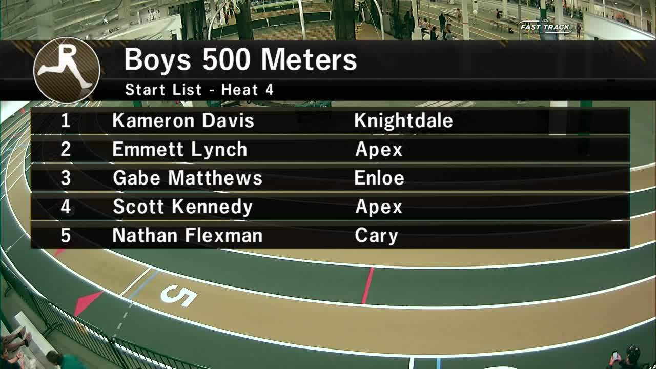 Boys 500M Section 4 - Wake County Invitational #2 2020 For Wake County Track 4
