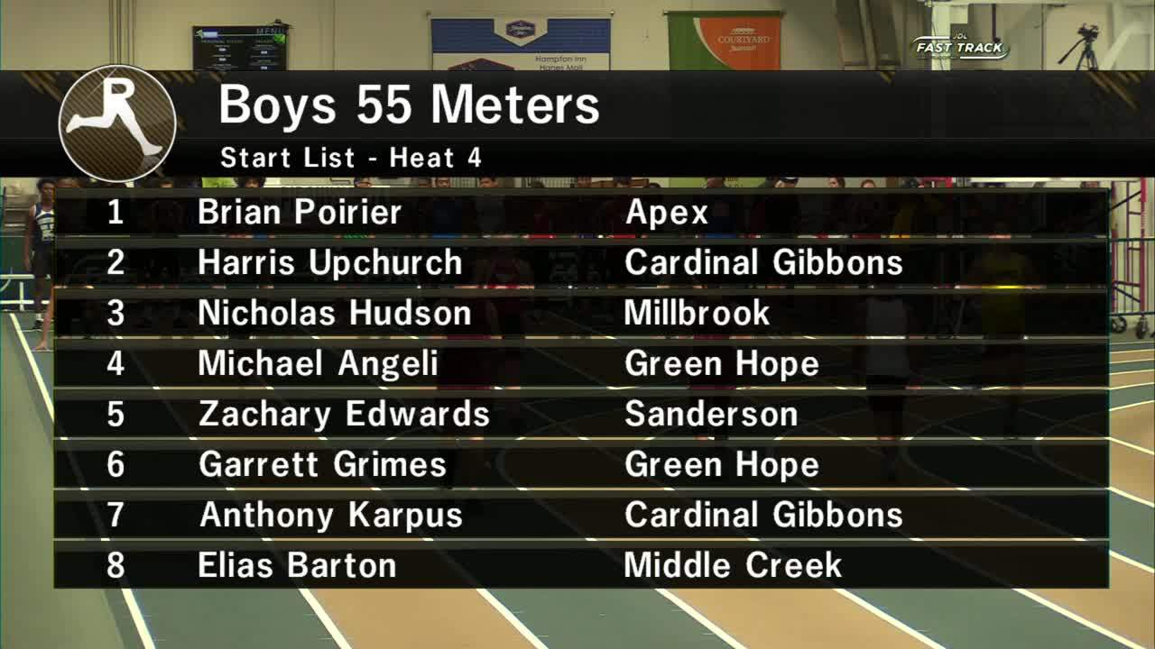 Boys 55M Section 4 - Wake County Invitational #1 2019 Pertaining To Wake County Track 4