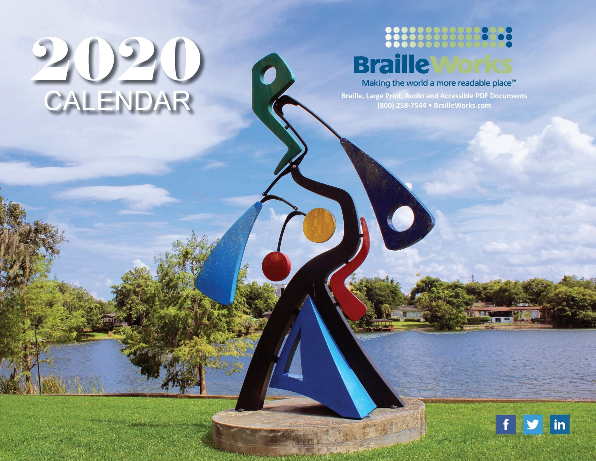 Braille Calendars – Attractive And Accessible – Braille Works With Discover Wisconsin Calendar 2021