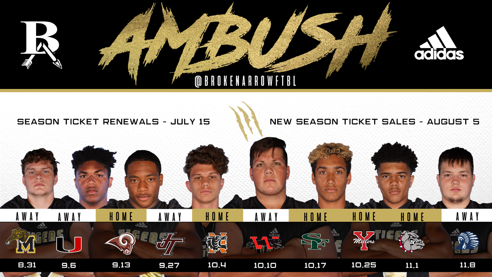 Broken Arrow Athletic Department – 2019 Ba Football Schedule Regarding Broken Arrow Public Schools Calendar