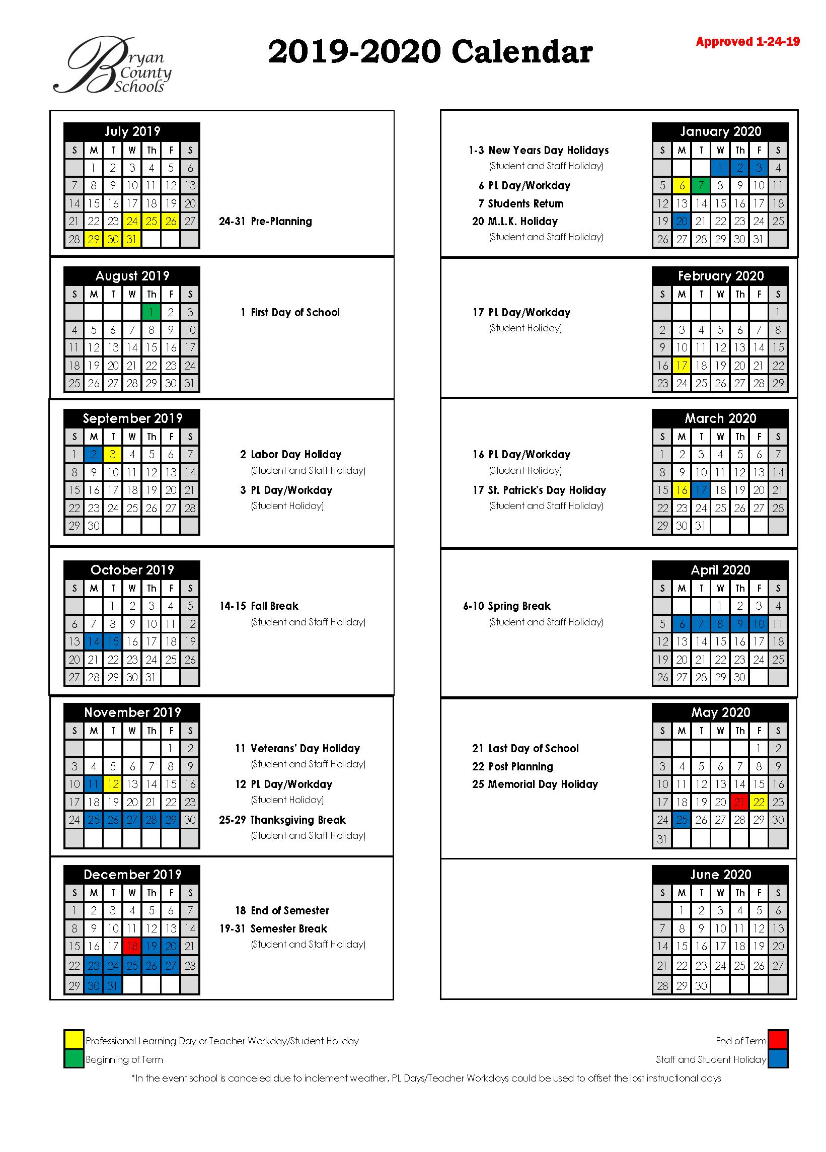 Bryan County Schools Inside Richmond County Board Of Education Ga Calendar