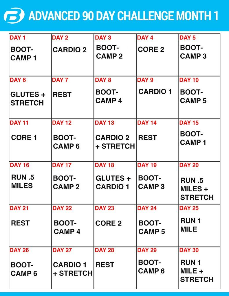 Burton Nutrition 90 Day Challenge Workouts And Create A Meal For 90 Day Supreme Workout Schedule