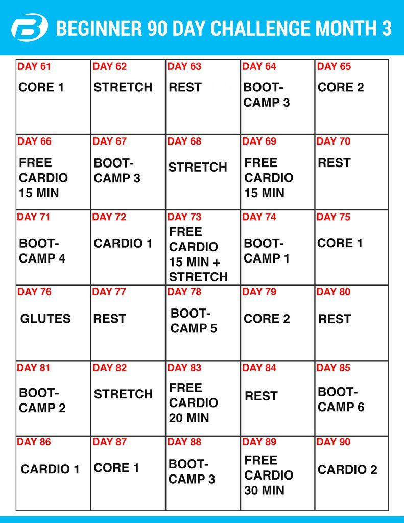 Burton Nutrition 90 Day Challenge Workouts And Create A Meal Throughout 90 Day Supreme Workout Schedule