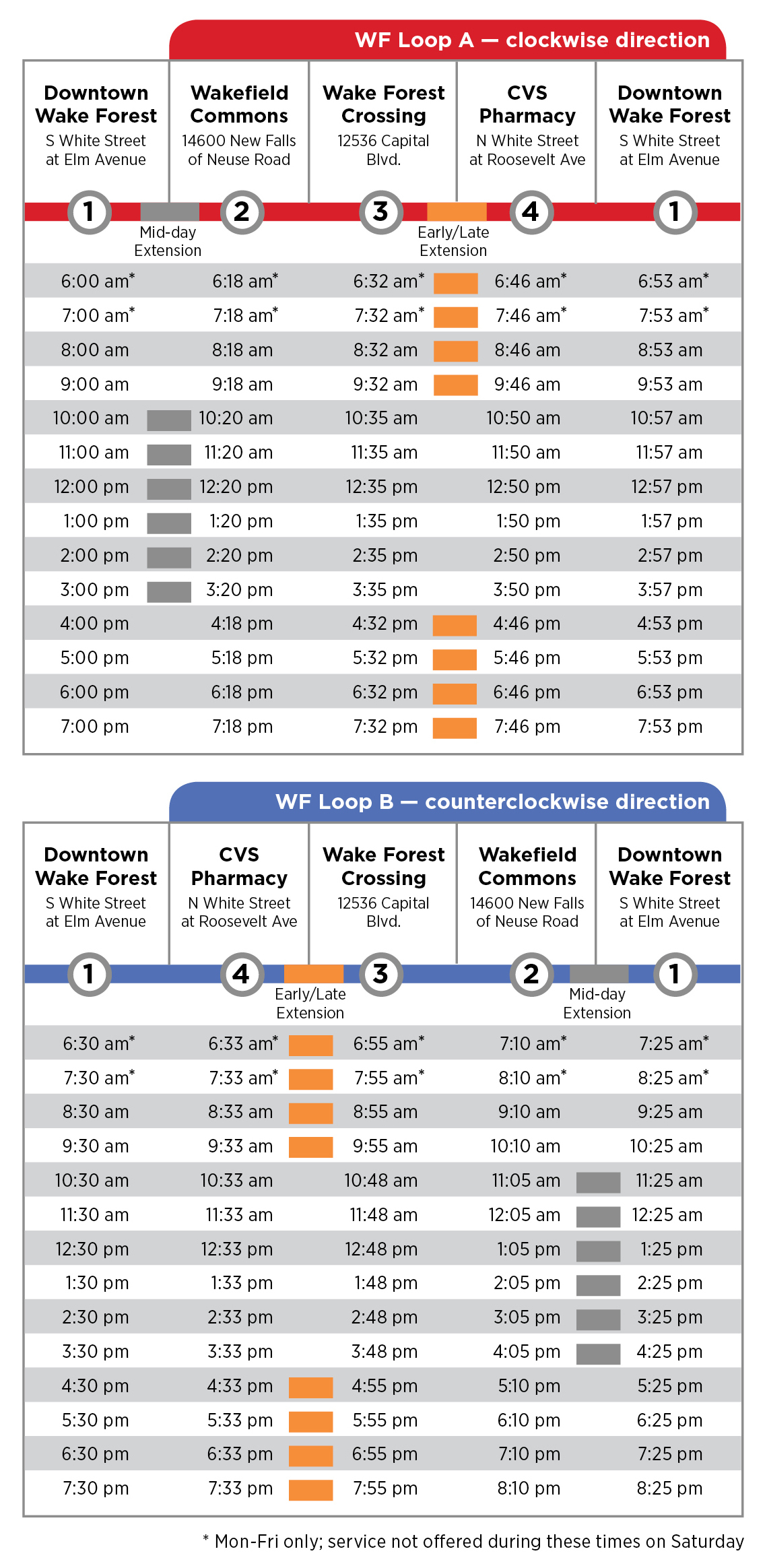 Bus Service | Town Of Wake Forest, Nc Inside Wake County Track 4 Calendar