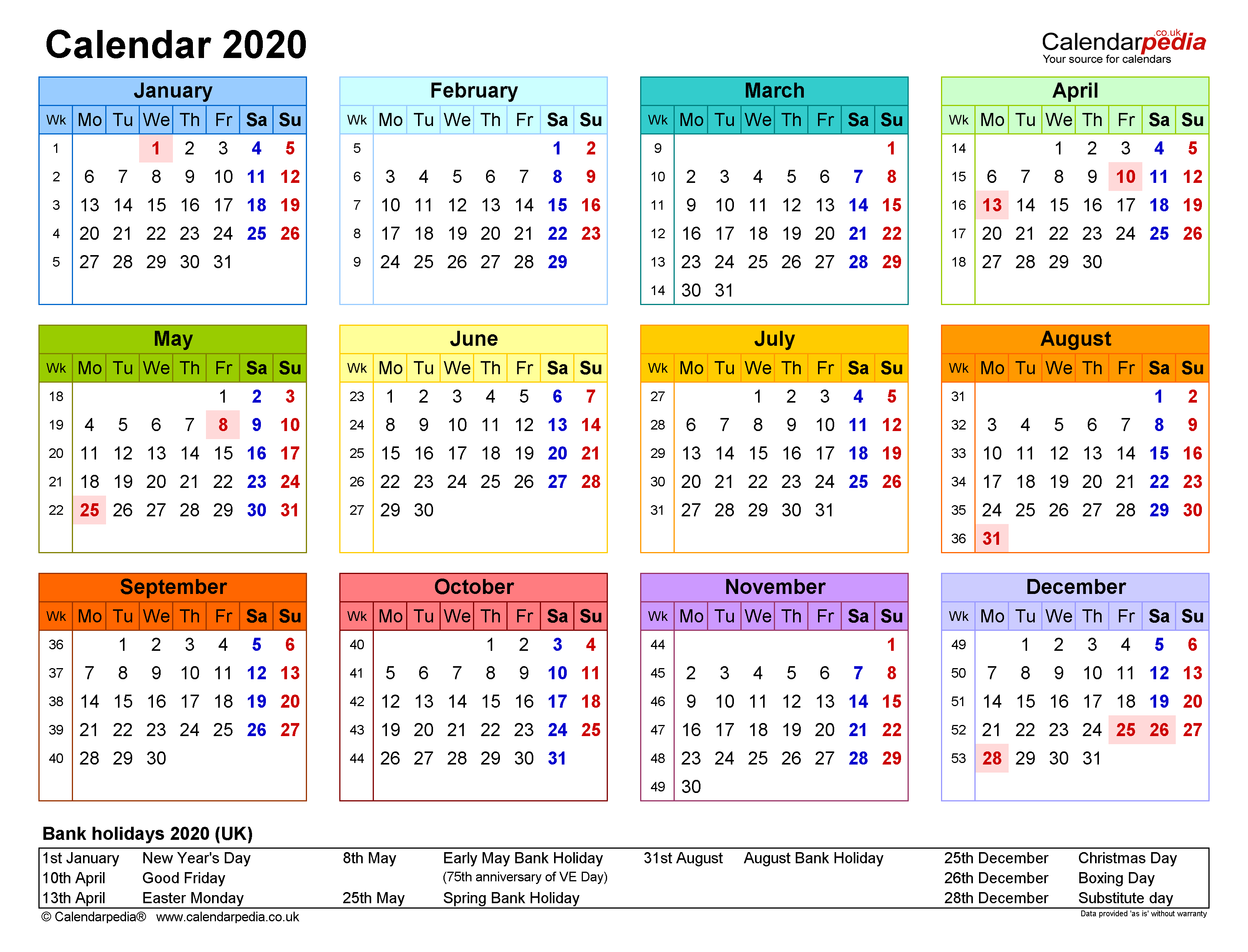 Calendar 2020 (Uk) | 17 Free Printable Word Templates Intended For Where To Find Google Printable Amendable Calander