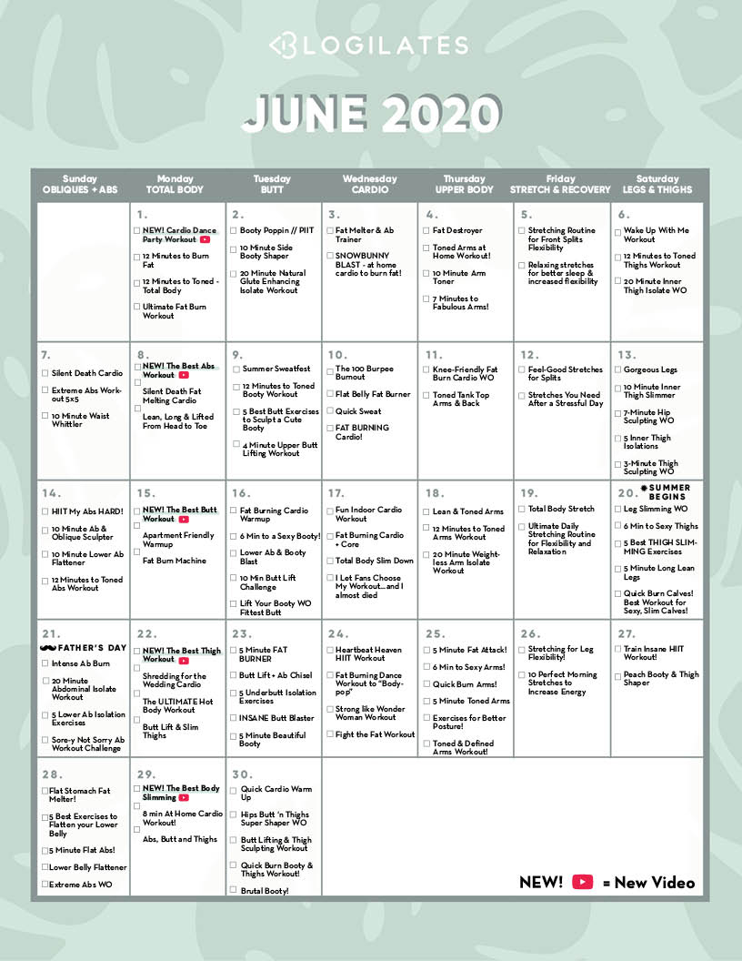 Calendar Archives – Blogilates For Printable 30 Day Squat Challenge January 2021