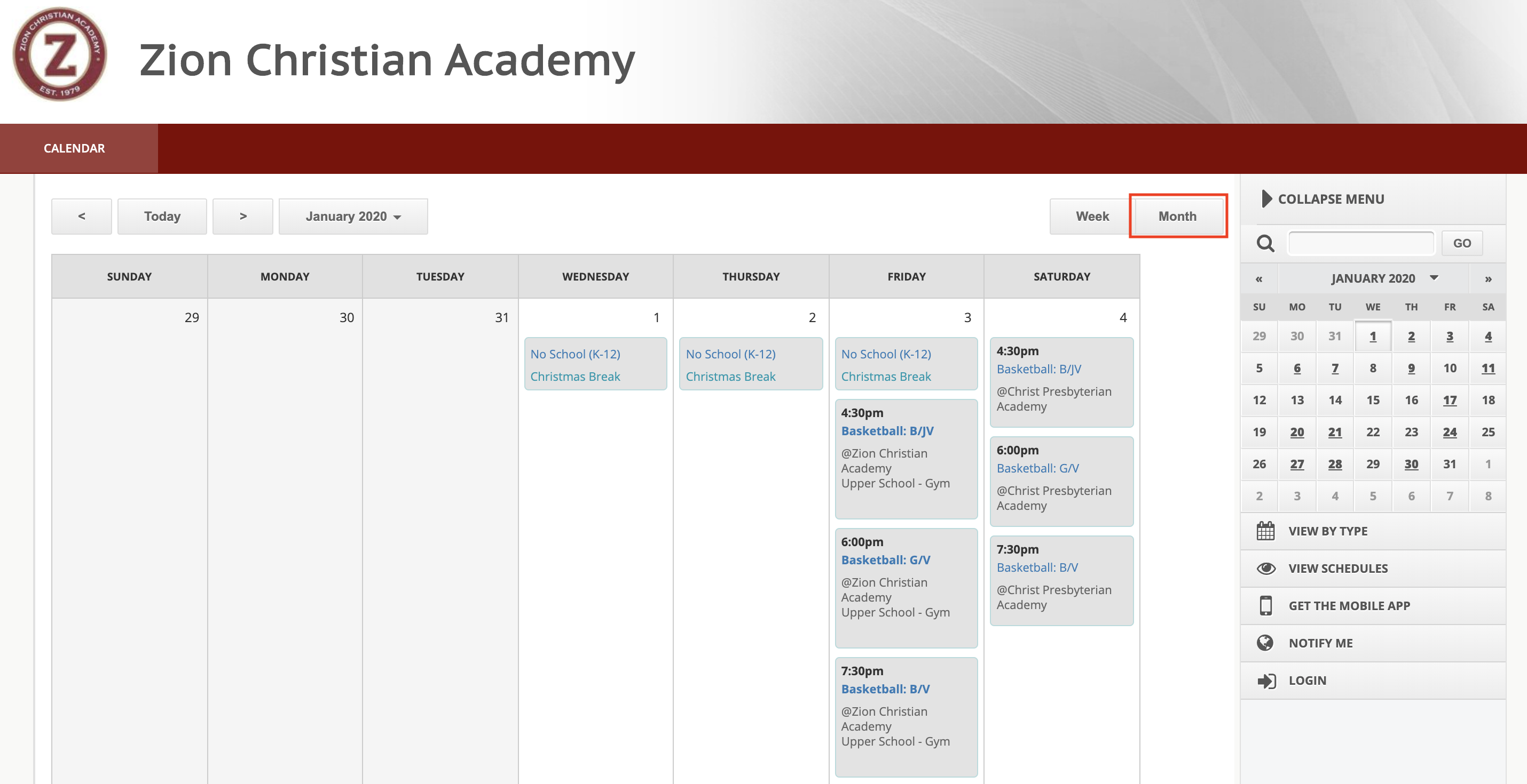 Calendar • Zion Christian Academy Pertaining To Davidson County Tn School 2021 – 2020 Calendar