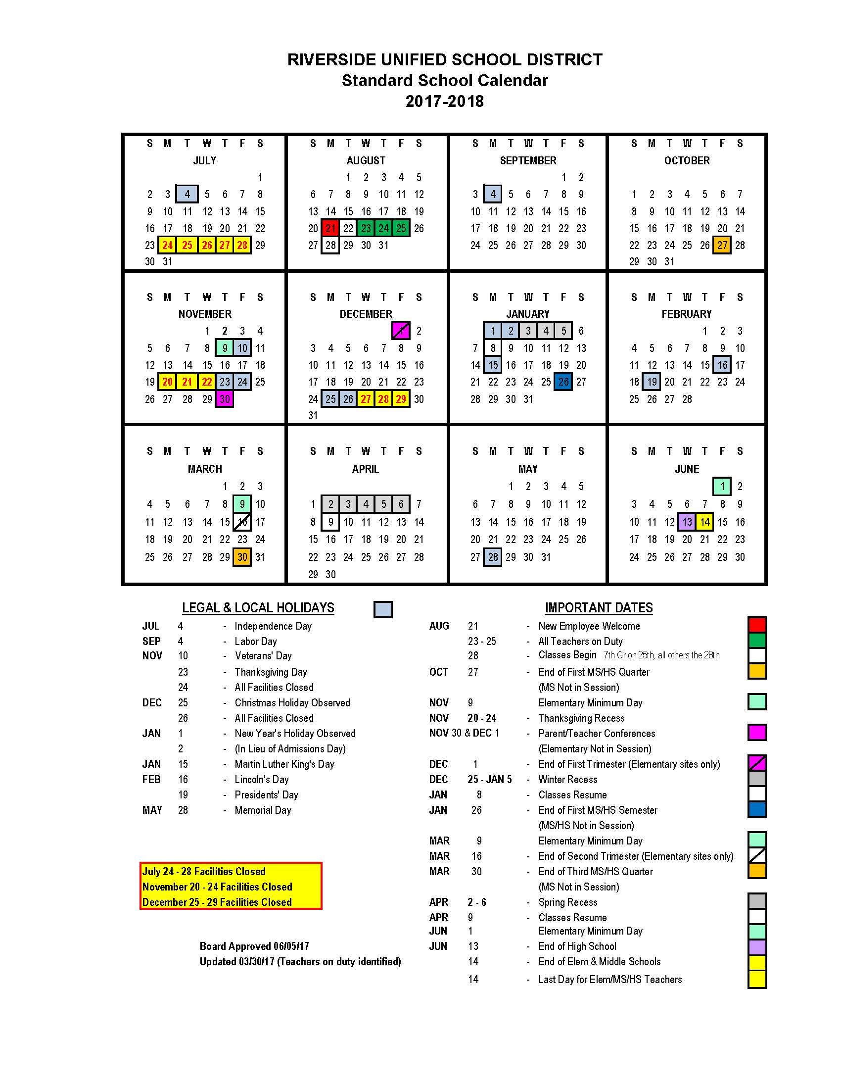 Calendar – Educational Options Center Within Victorville Elementary School Calendar