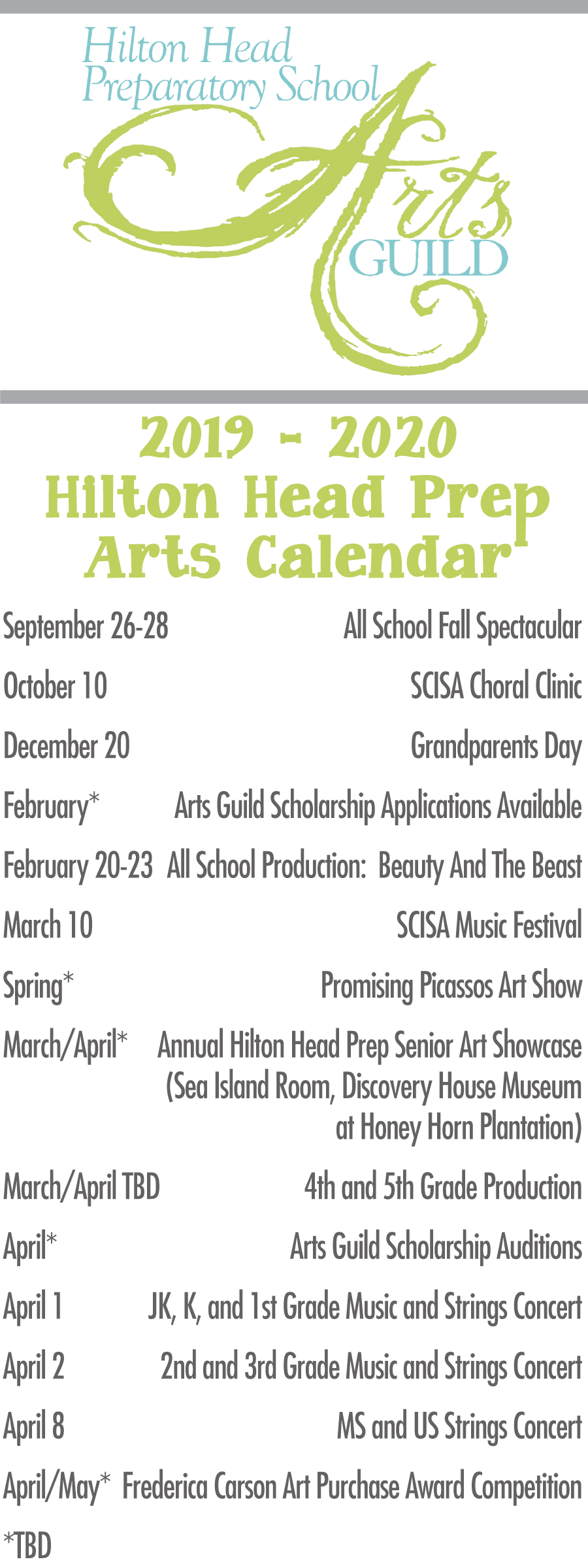 Calendar - Hilton Head Preparatory School Regarding Calendar 2021 For Hilton Head Sc