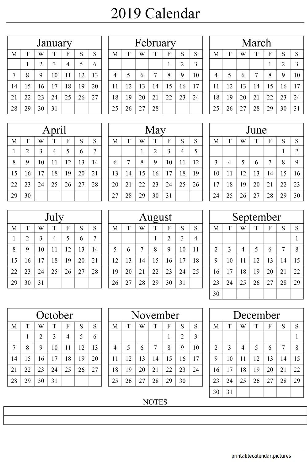 Calendar Template 2019 | Printable Yearly Calendar, Free Within Flanders Family 2020 Academic Calendar  2021