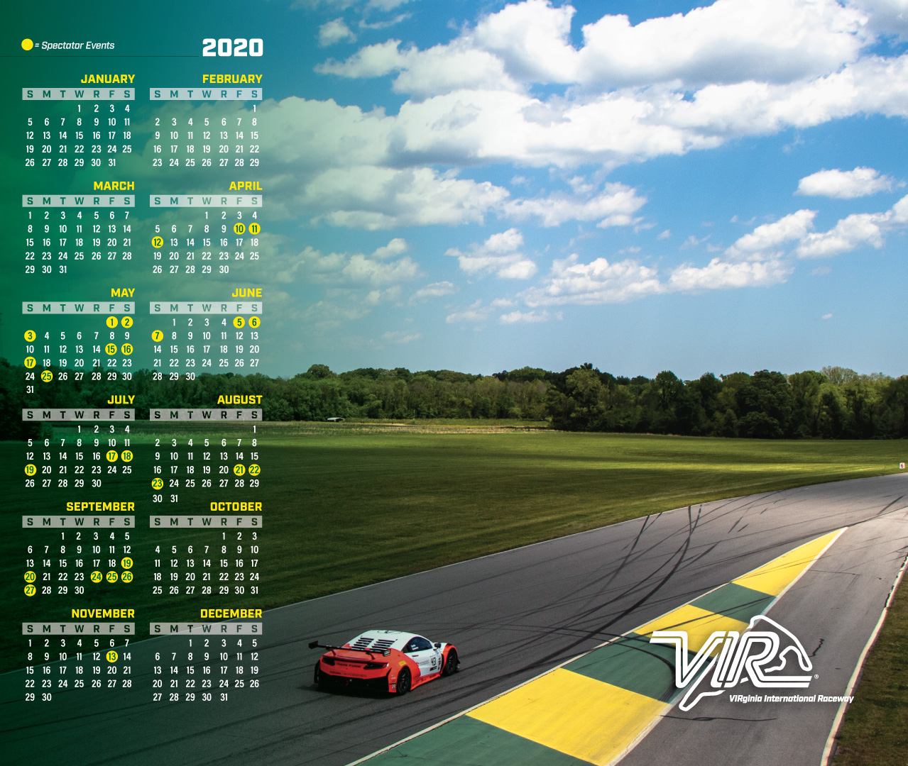 Calendar | Virginia International Raceway In Wake County Track 4 Calendar