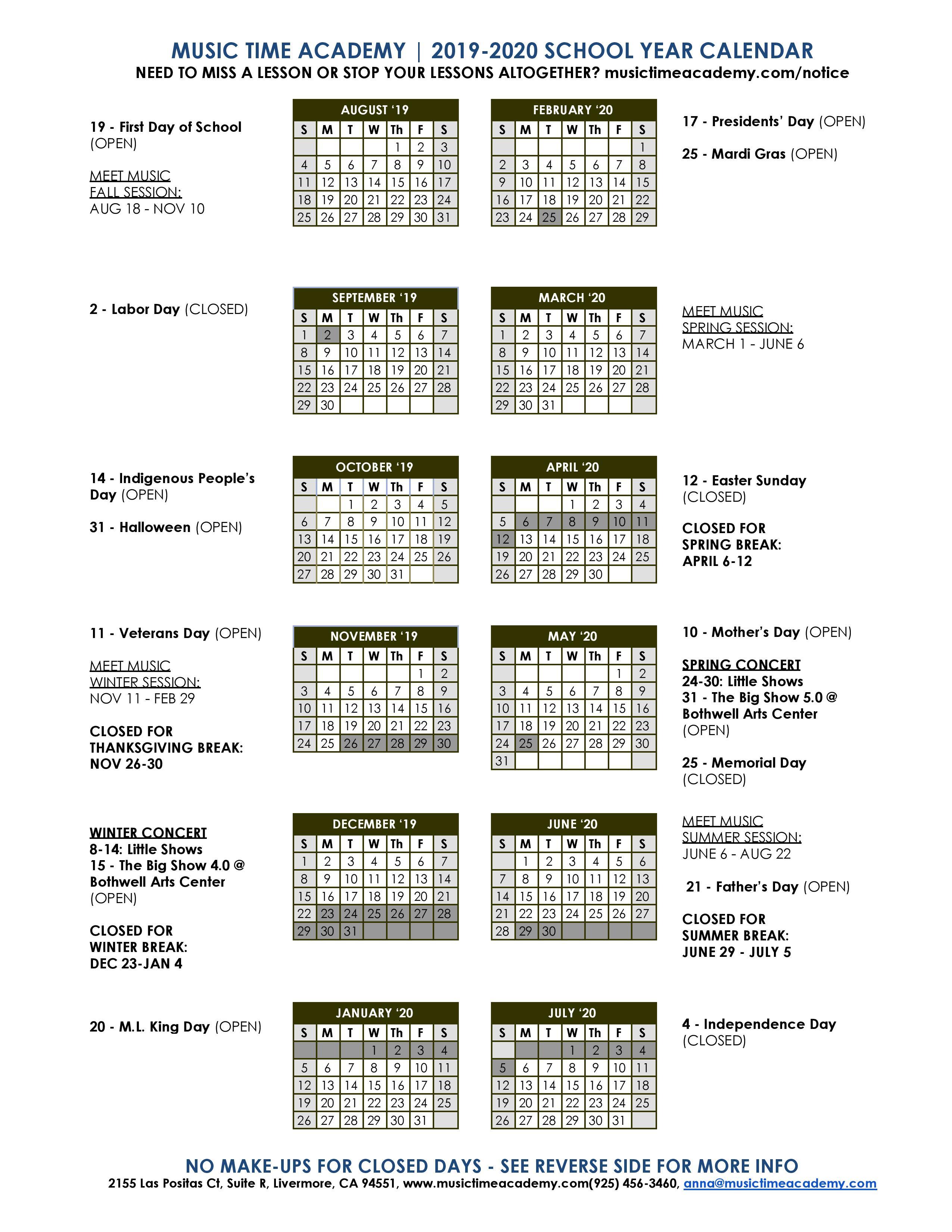 Calendar | With Regard To Livermore School Calendar