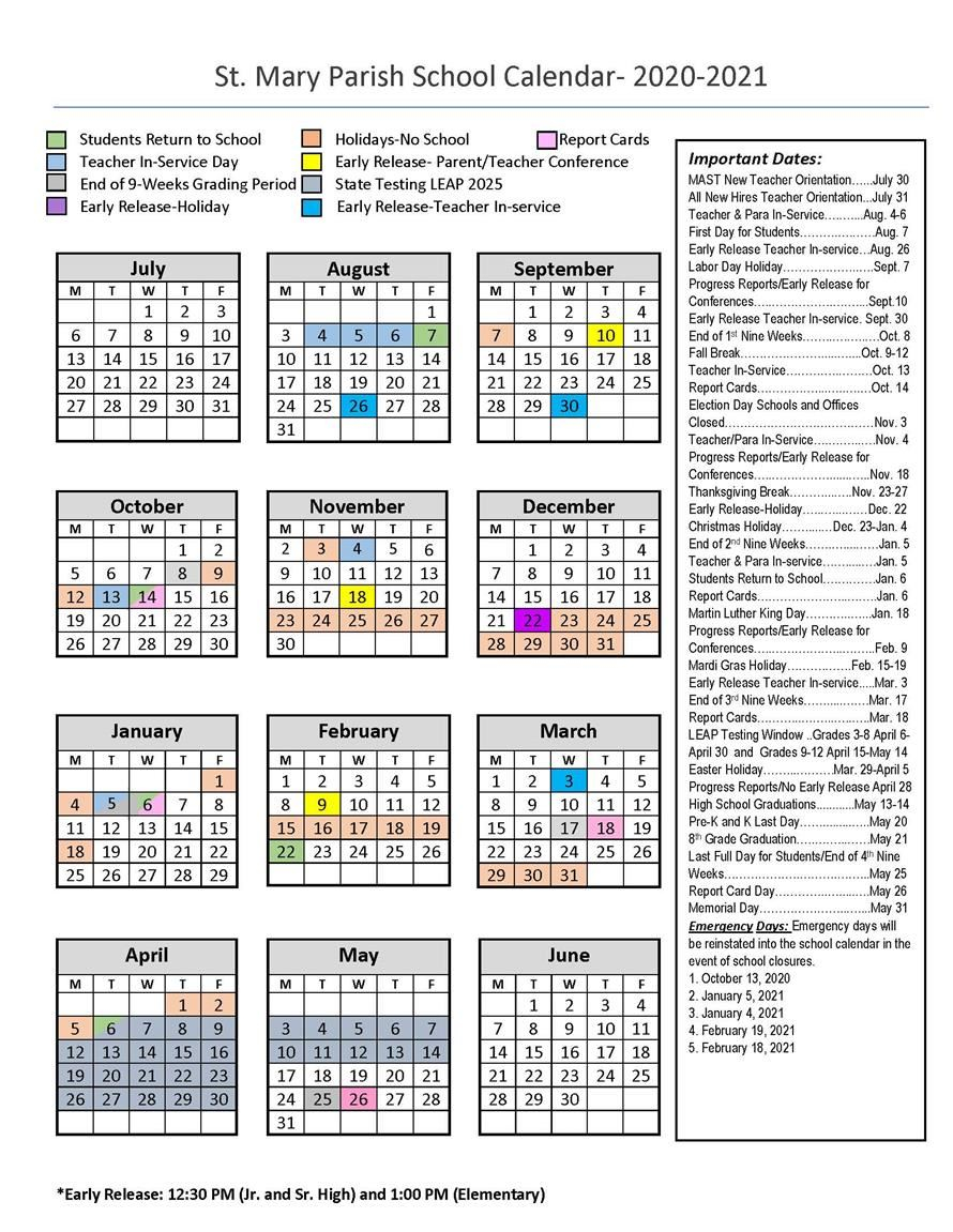 Calendars / 180 Day School Calendar (2020 21) Intended For Gilroy Unified School District Calendar 2021