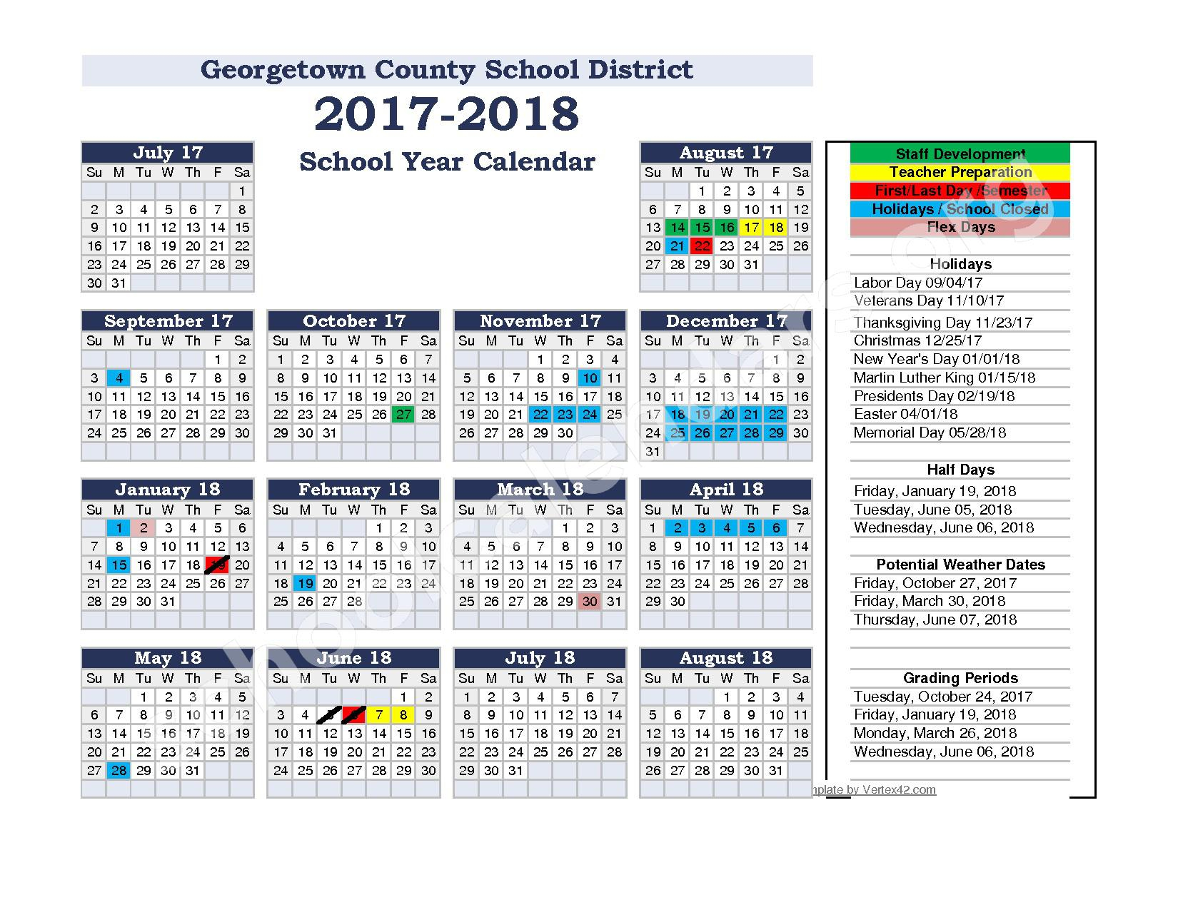 Calendars District Calendar Georgetown High School - Induced Regarding Georgetown County School District Calendar