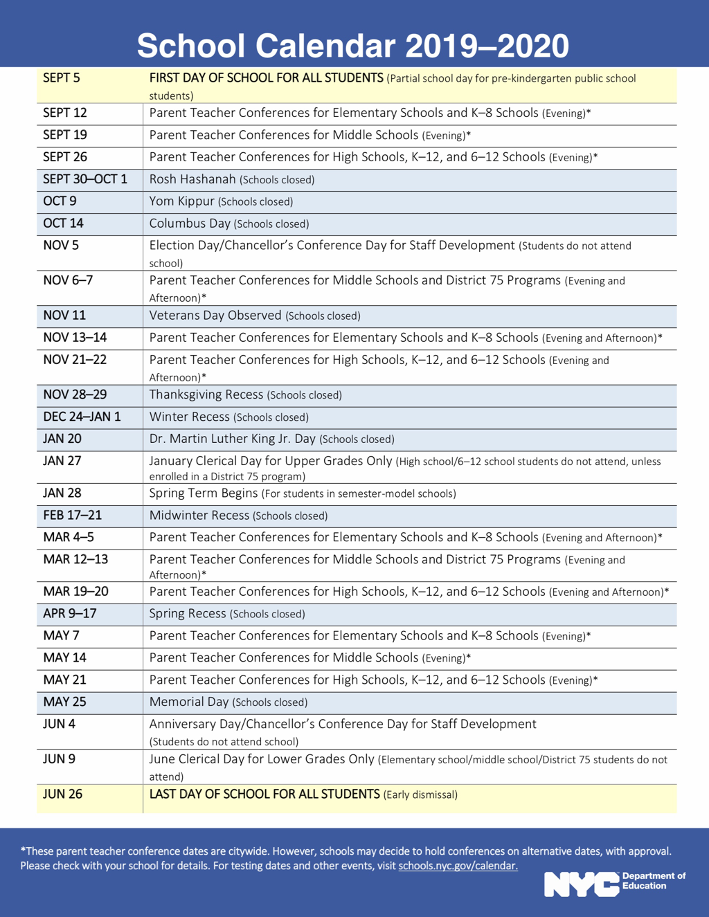 Calendars For Staten Island College Callendar