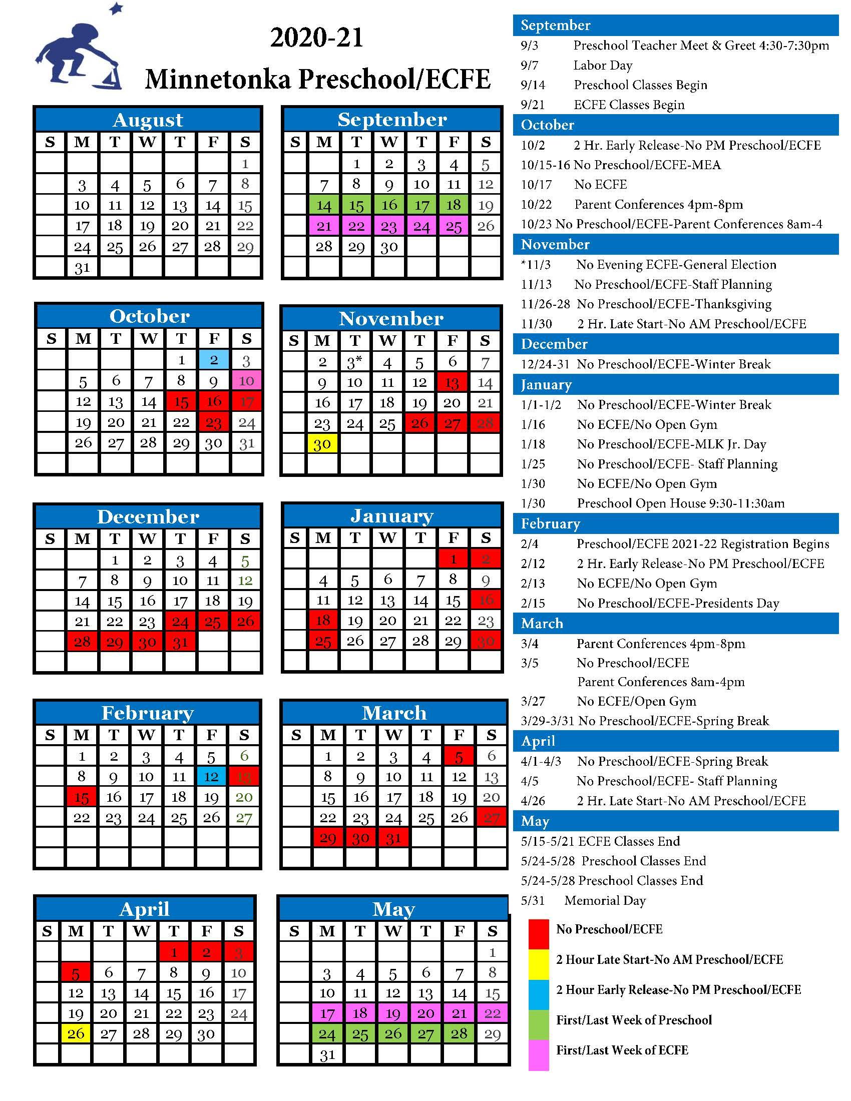 Calendars – Minnetonka Public Schools   Innovate. Inspire For White Bear Lake Schools Activites Calendar 2021 2021