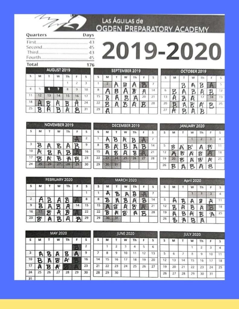Calendars – Ogden Preparatory Academy Within Ogden City School Calendar 2021