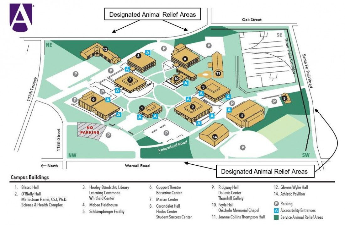 Campus Map | Avila University Throughout When Is Spring Break For Hickman Mills District