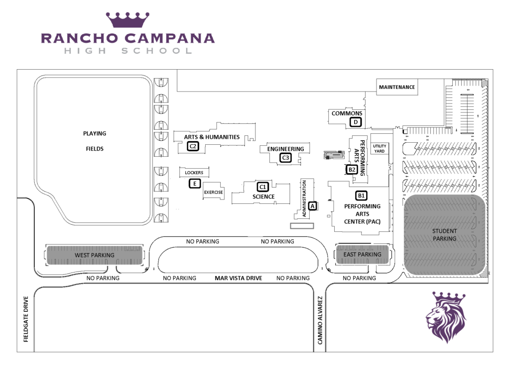 Campus Map – Rancho Campana High School With Regard To Oxnard Union High School District Calendar