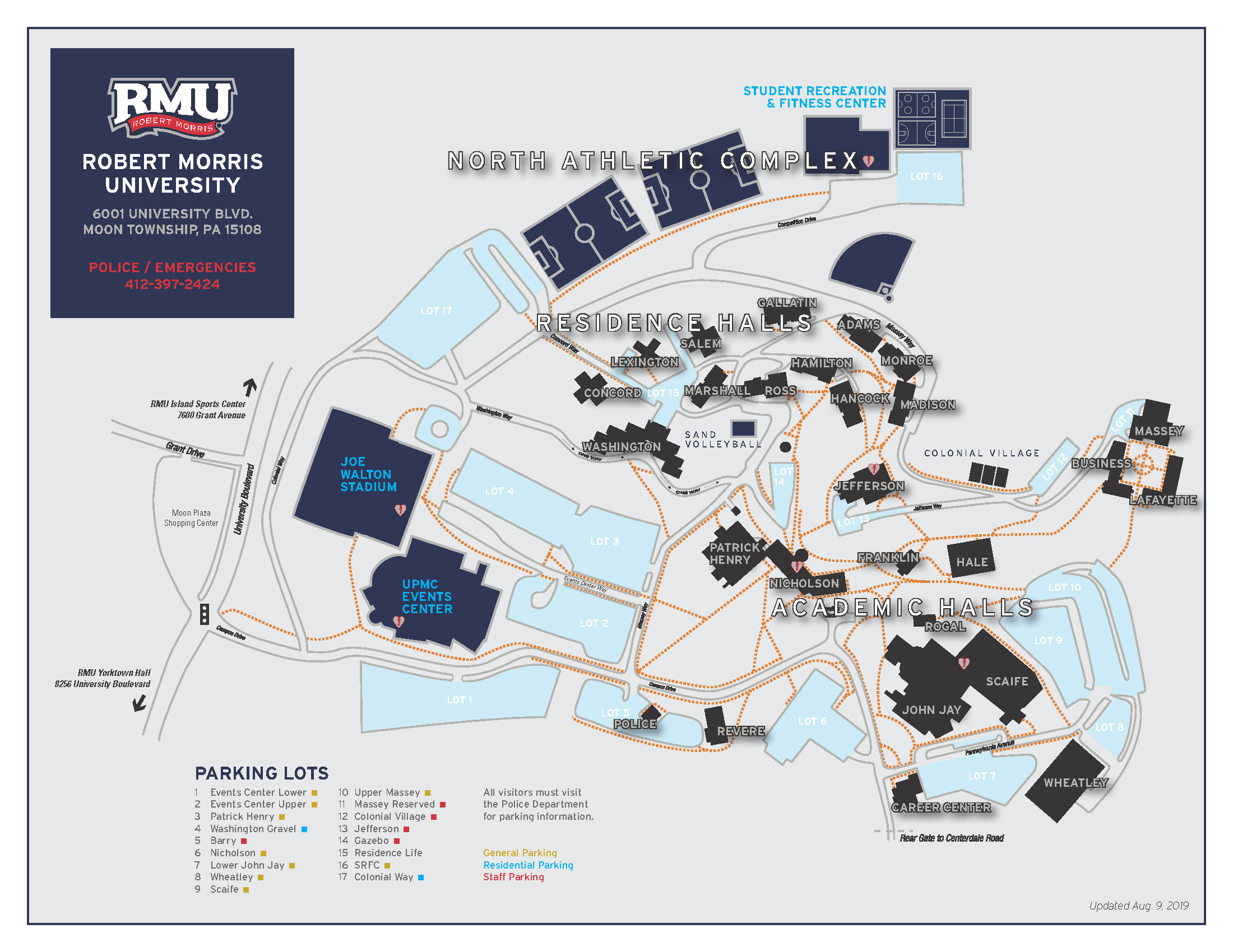 Campus Map | Robert Morris University Intended For Robert Morris University Academic Calendar