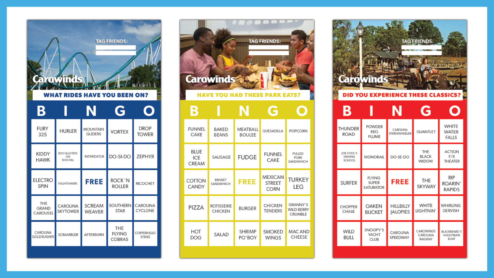 Carowinds Bingo - Carowinds with regard to Turning Stone Bingo Calendar 2021 November