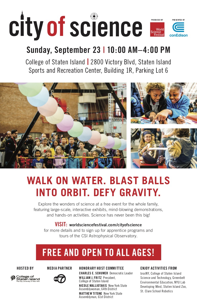 City Of Science At The College Of Staten Island – Free In Cllege Of Staten Island Calendar