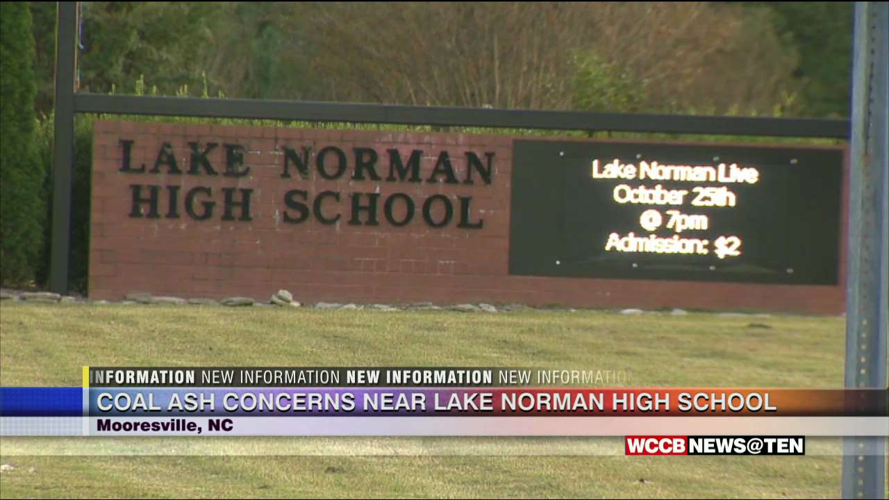 Coal Ash Uncovered Near Lake Norman High School In Pertaining To Lake Norman High School Schedule